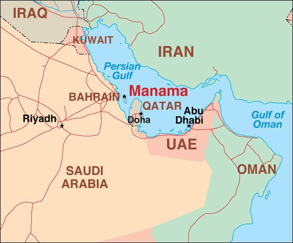 Bahrain Map In World