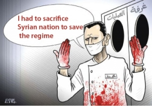 syria_cartoon_bashar_assad_killing_nation_I_had_to_sacrifice_Syrian_nation_to_save_the_regime