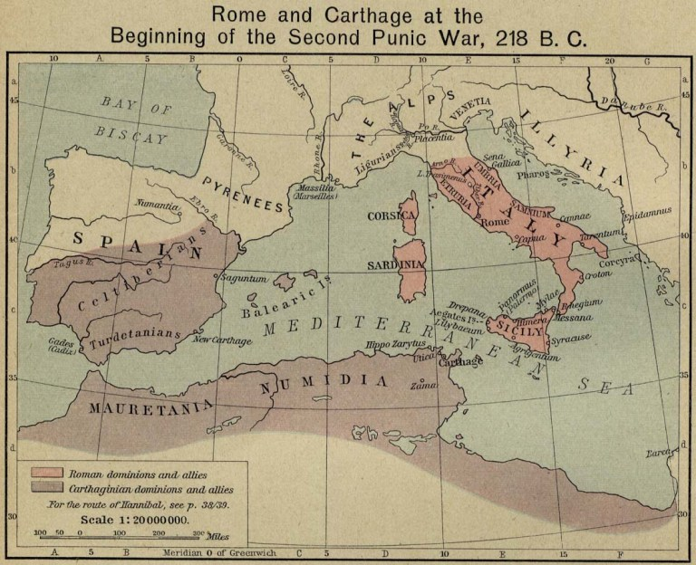 Carthage and Rome Map