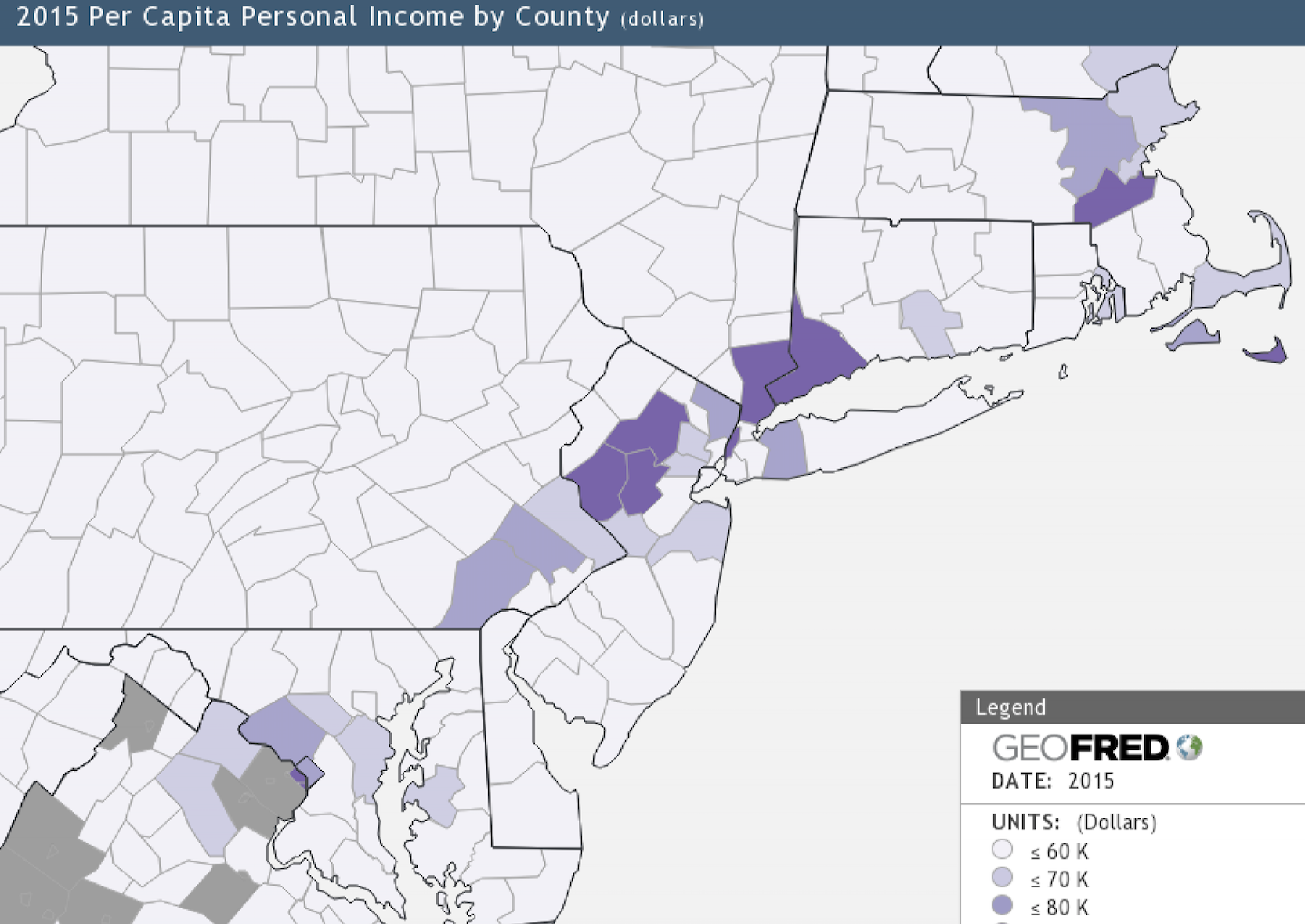 Zones Of Poverty And Affluence In America Policy Tensor - Richest us counties per capita